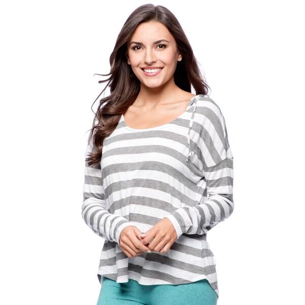 Marika Long Sleeve Slouch Stripe Hoodie