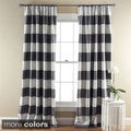 Lush Decor Horizontal Stripe Blackout 84-Inch Curtain Panel Pair