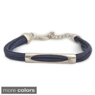 Joplin Silver Bead and Microsuede Bracelet