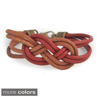 Mallory Two-tone Leather Knot Bracelet (Bolivia)