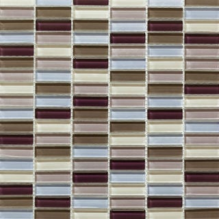 Martini Mosaic Aria Berry Wine 12 x 11.75-inch Tile (Set of 10 Sheets)