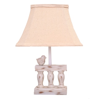 Bird On Railing White Accent Lamp