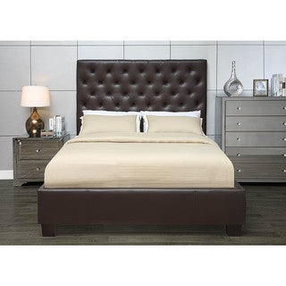 Chesterfield Panel Bed in Mocha or Stone with Euro Slat System