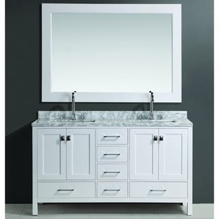 London Double Sink Vanity Set in White Finish