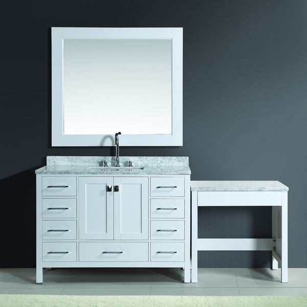 Design Element London 48 inch White Single Sink Vanity Set  : London 48 Single Sink Vanity Set in White Finish with One Make up table in White Finish 8f6e0651 8723 4e7f 93ce 98e97c88fbbb600 from www.overstock.com size 600 x 600 jpeg 28kB