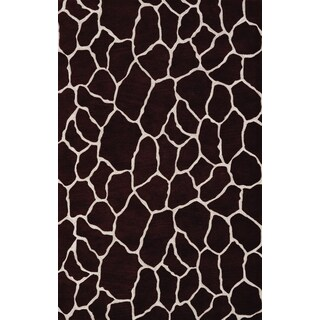 Quest Chocolate Rectangular Rug (8' x 10')