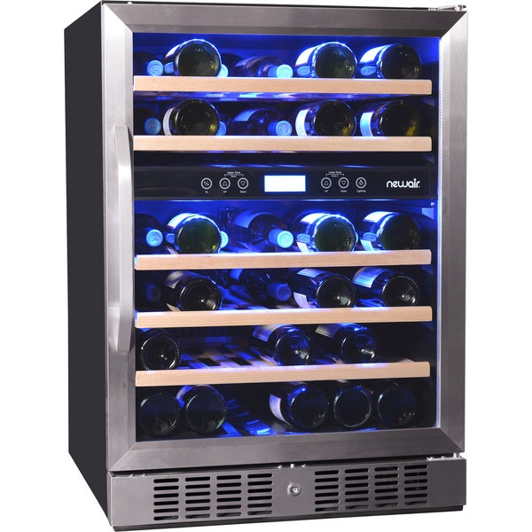 Newair AWR-460DB 46-bottle Built-in Compressor Wine Cooler
