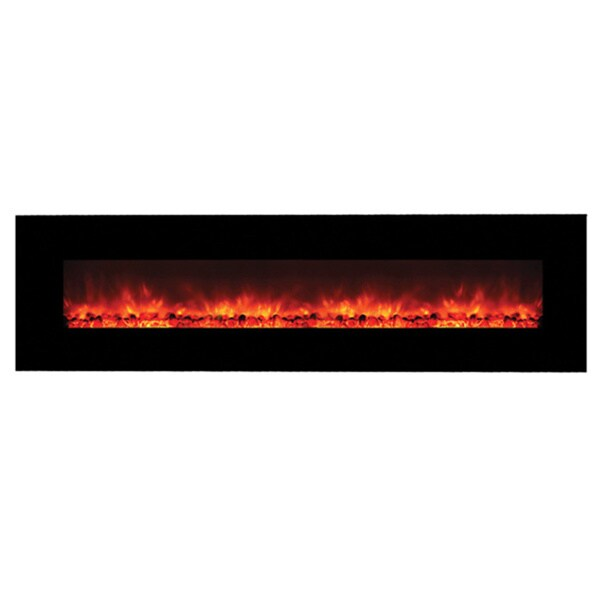 DF EFP1313 Wall Mount Electric Fireplace with Remote Control