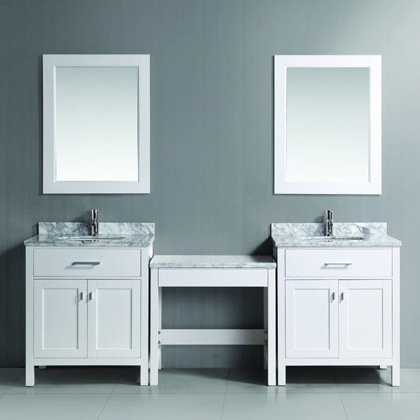 Design Element Two London White 30 inch Single Sink Vanity  : Two London 30 Single Sink Vanity Set in White and One Make up table in White 66164396 5b31 4945 af8e 14eb3c0e3cdf600 from www.overstock.com size 600 x 600 jpeg 23kB
