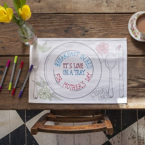 Doodle Draw On It, Wash It, Do It Again Placemats