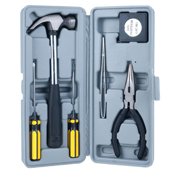 7-Piece Handy Man Home or Dorm Tool Set in Case
