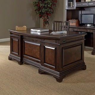 Chateau Valley Brown Cherry Jr Executive Desk 17734566