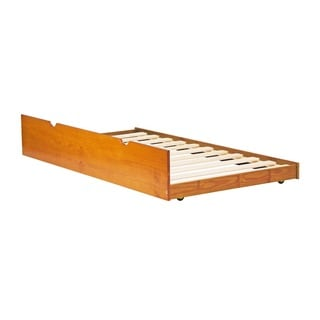 Solid Wood Twin Trundle Bed with Slats