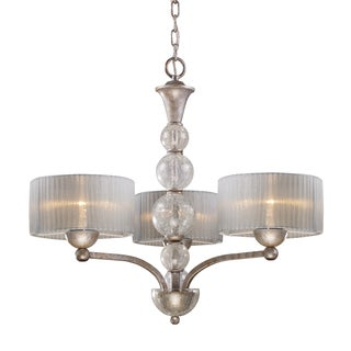 Elk Lighting Alexis 3-light Antique Silver Chandelier