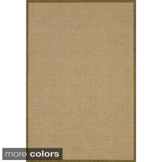 Delight Forest/ Wheat Rectangular Nylon Rug (5' x 7')