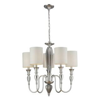 Elk Lighting HGTV Home Martique 5-light Chrome and Silver Leaf Chandelier