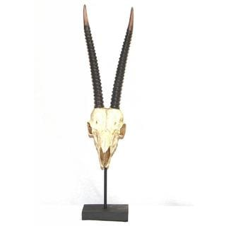 Ibex with Horns Table Sculpture
