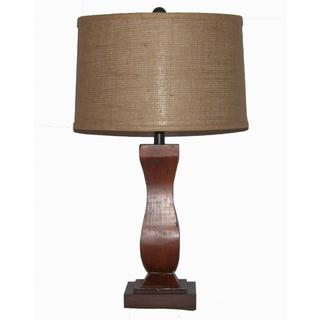 Crown Lighting 1-light Dark Oak Finished Wood Table Lamp