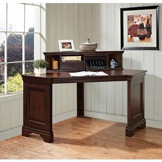 Mulberry Corner Writing Desk and Corner Hutch