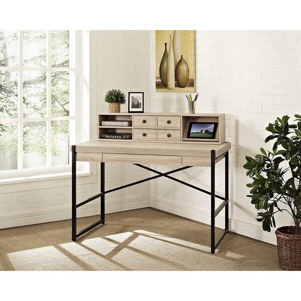 Denver Desk with Laptop Drawer and Hutch