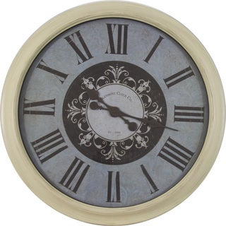 30-inch Distressed Frame Glenmont Roman Numeral Clock