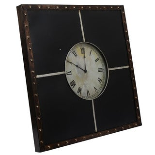 Classic Framed Metal Roman Numeral Wall Clock