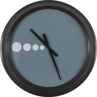 "24"" Contemporary Blue Spotted Clock"