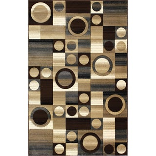 Christopher Knight Home Pinnacle Contours Brown Area Rug (7'10 x 9'10)