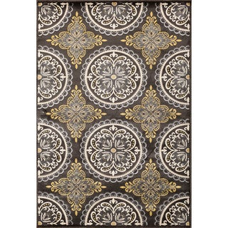 Christopher Knight Home Paris Citron Pena Charcoal Area Rug (7'10 x 9'10)