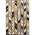 Christopher Knight Home Paris Citron Parallels Silver Area Rug (7'10 x 9'10)