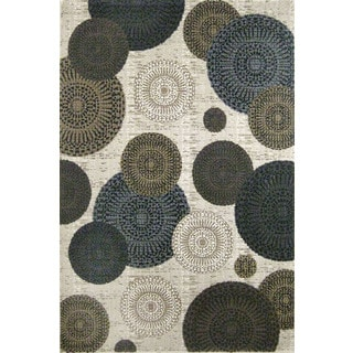 Christopher Knight Home Mystique Chandler White/ Blue Area Rug (5' x 7'7)