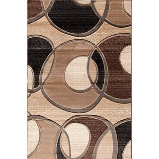 Christopher Knight Home Pinnacle Around the Block Beige/ Brown Area Rug (5' x 7'6)