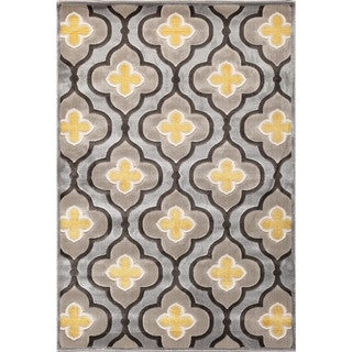 Christopher Knight Home Paris Citron Livingston Silver/ Charcoal Area Rug (5' x 7'6)