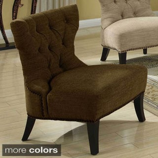 Emerald Angie Chenille Bow Tie Accent Chair