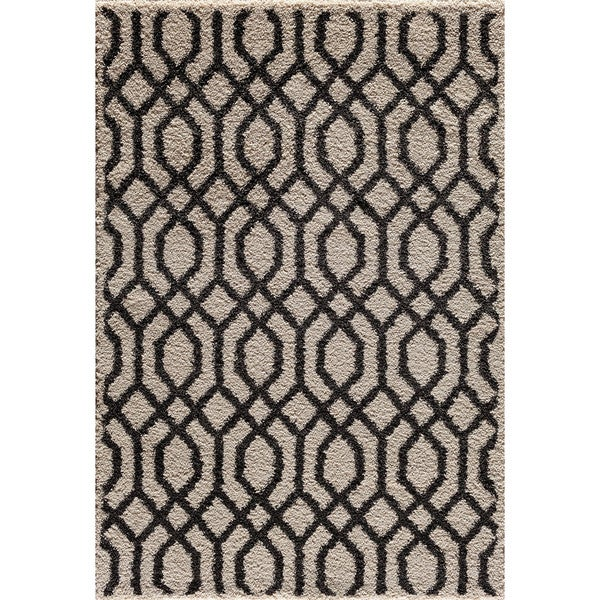 Christopher Knight Home Mesa Hybrid Lithos Pearl/ Black Area Rug (5' x 7'3)
