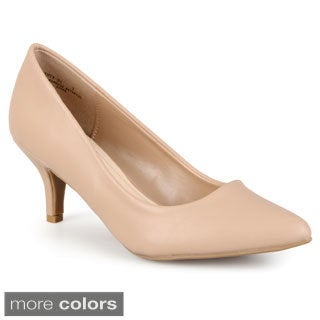 Journee Collection Women's 'Kenley' Matte Pointed Toe Pumps