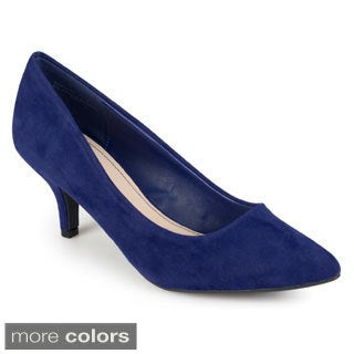 Journee Collection Women's 'Kenley' Sueded Pointed Toe Pumps