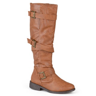 Journee Collection Women's 'Ambrie' Strappy Round Toe Boots