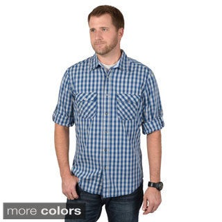 Boston Traveler Men's Long Sleeve Checkered Button-up Shirts