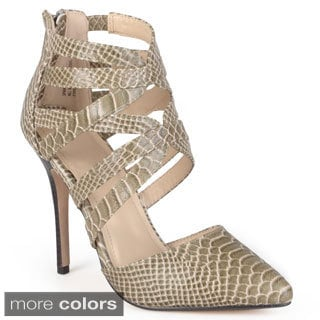 Journee Collection Women's 'Becca' Strappy Pointed Toe Stilettos