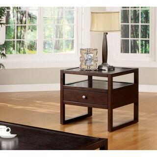 Furniture of America Hilda Blaine Espresso End Table