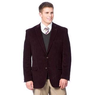 Designer Men's Deep Plum Cotton Corduroy Blazer