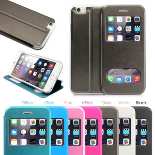 Gearonic PU Leather Front-view Wallet Cover Case for Apple iPhone 6