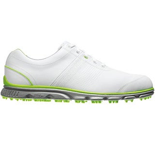 FootJoy Men's Dryjoy Casual Spikeless White-Lime Golf Shoes
