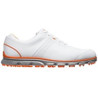 FootJoy Men's Dryjoy Casual Spikeless White-Orange Golf Shoes