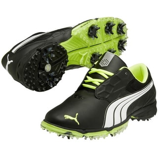 Puma Men's Biofusion Lite Black-White-Fluo Yellow Golf Shoes