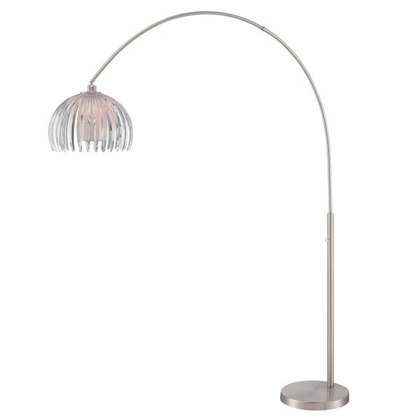 Lite Source Lotuz 1-light Arch Lamp Chrome with White Shade and Clear Acrylic