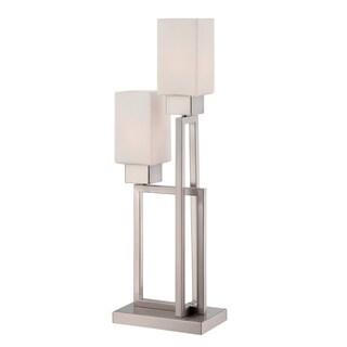 Lite Source Risa 2-light Table Lamp Polished Steel