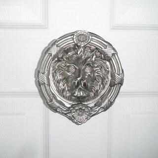 Highpoint Collection Satin Nickel 6-inch Lion Head Door Knocker