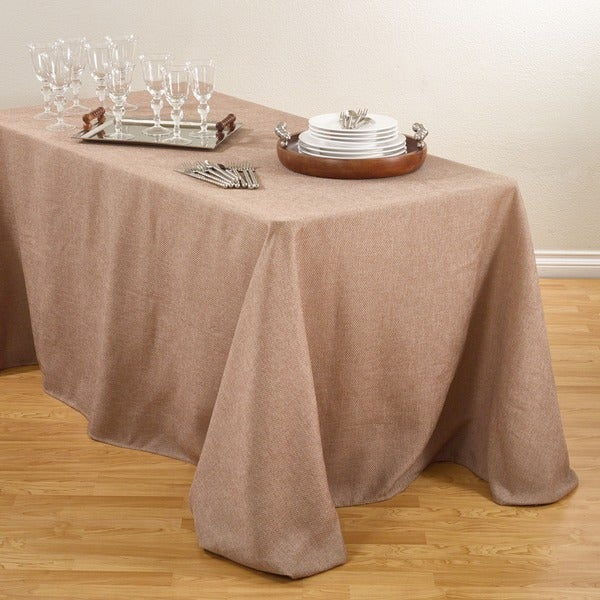 Basket Weave Design Tablecloth